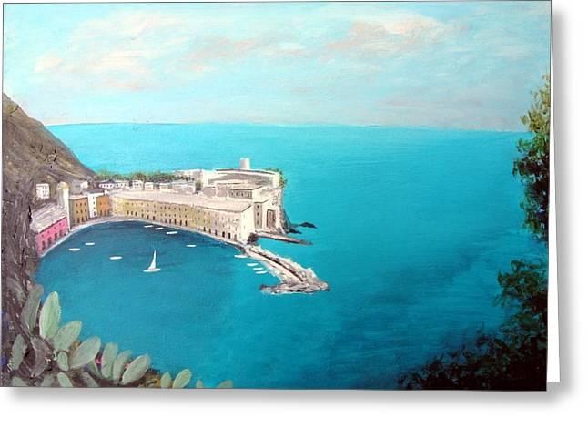 5 Lands Italy Greeting Card by Larry Cirigliano