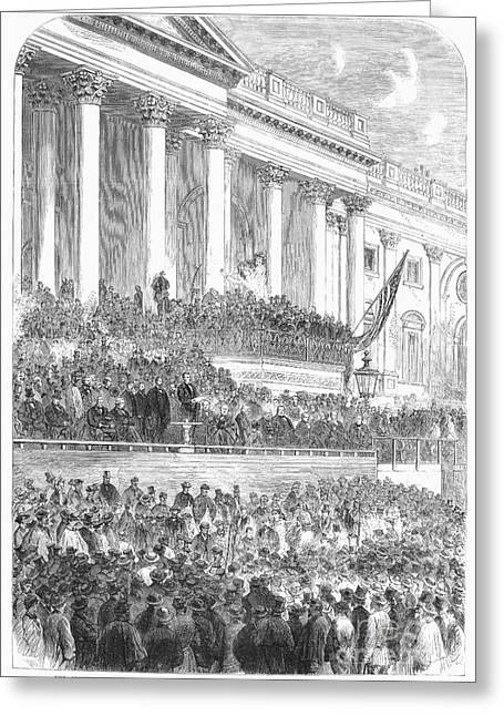 Lincolns Inauguration Greeting Card by Granger