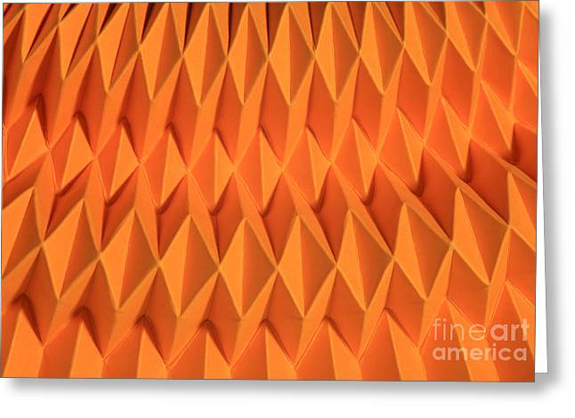Mathematical Origami Greeting Card by Ted Kinsman