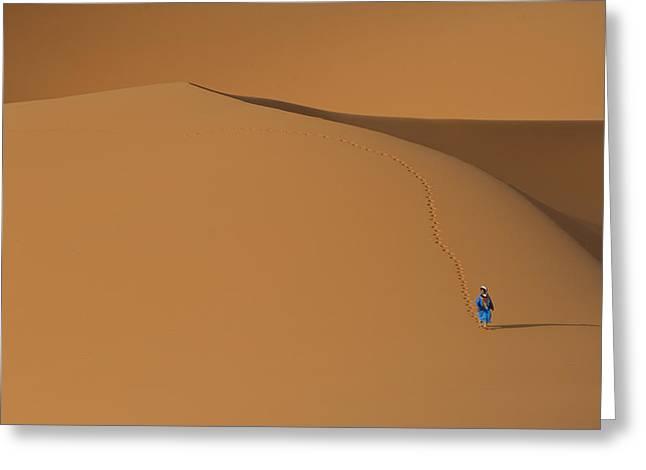 Merzouga, Morocco Greeting Card by Axiom Photographic