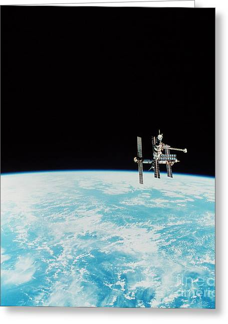 Mir Space Station Greeting Card by Nasa