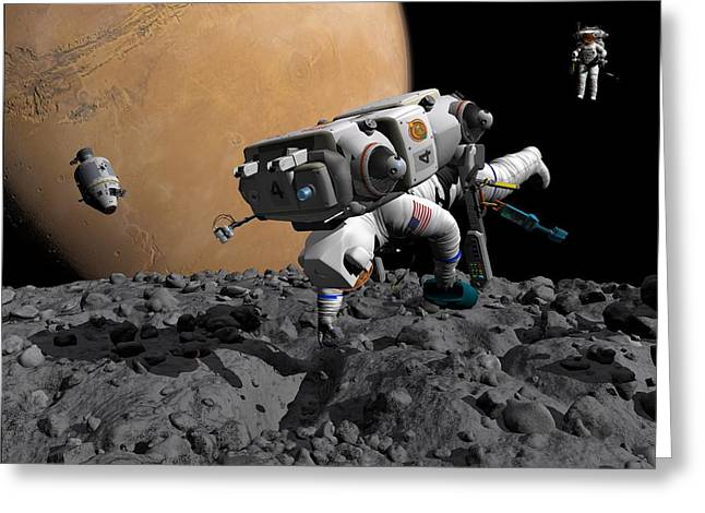 Mission To Mars, Artwork Greeting Card by Walter Myers