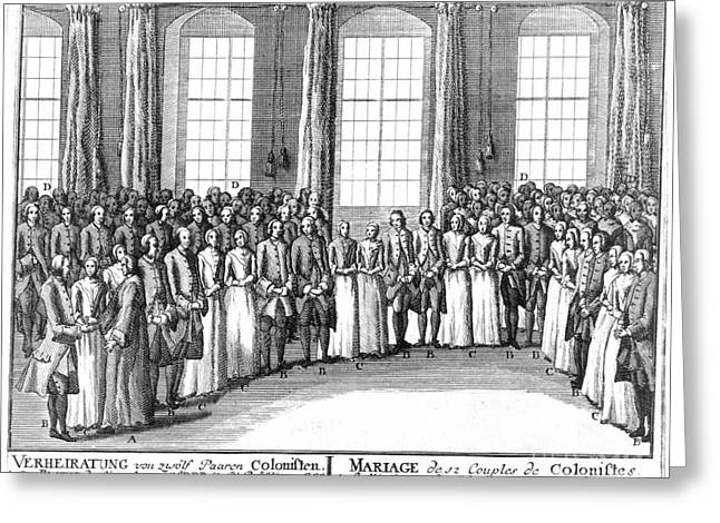 Moravians, 1757 Greeting Card by Granger