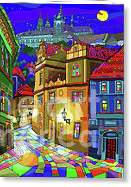 Prague Old Street Greeting Card