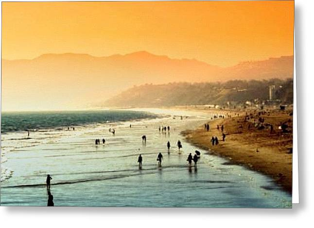 Santa Monica Beach Greeting Card