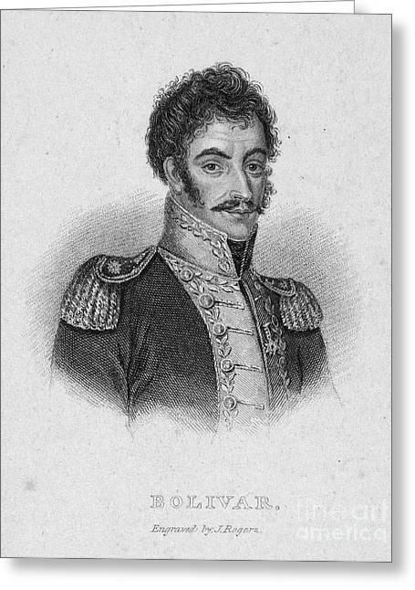 Simon Bolivar (1783-1830) Greeting Card