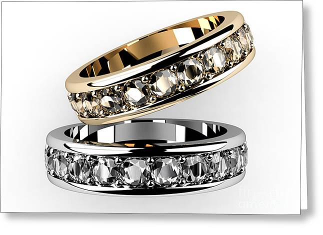 The Beauty Wedding Ring  Greeting Card by Rattanapon Muanpimthong