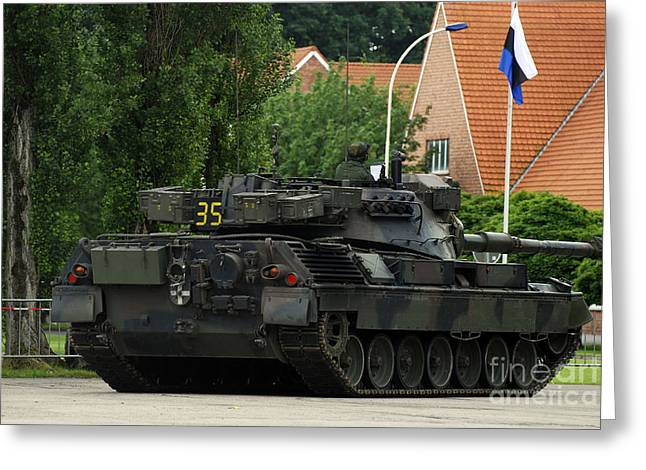 The Leopard 1a5 Mbt Of The Belgian Army Greeting Card