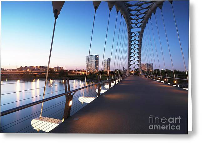 Toronto The Humber River Arch Bridge Greeting Card by Oleksiy Maksymenko