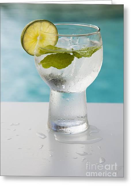 Water Greeting Card by Juan  Silva