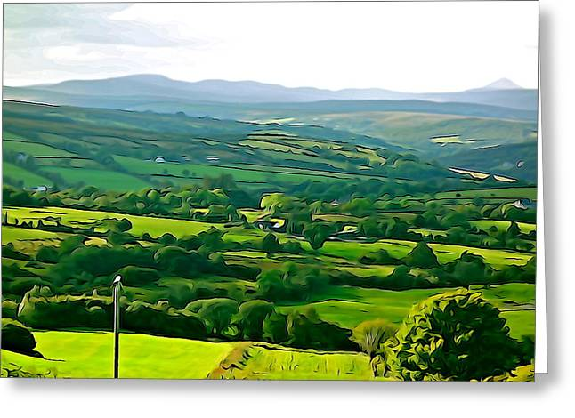 Greeting Card featuring the photograph 50 Shades Of Green by Charlie and Norma Brock
