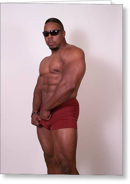 Male Muscle Art Greeting Card