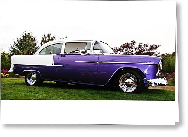 55 Chevy Greeting Card by Nick Kloepping