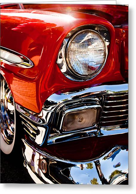 56 Chevy In The Sun Greeting Card