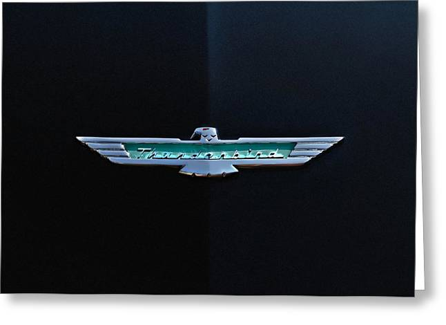 '56 T Bird Badge Greeting Card by Douglas Pittman