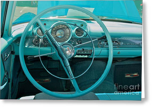 57 Chevy Bel Air Interior 2 Greeting Card
