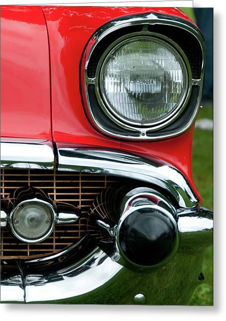 57 Chevy Left Front 8560 Greeting Card by Guy Whiteley