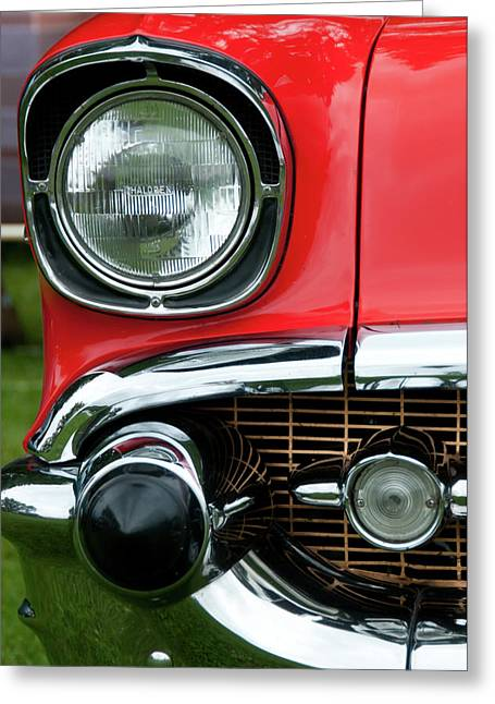 57 Chevy Right Front 8561 Greeting Card by Guy Whiteley