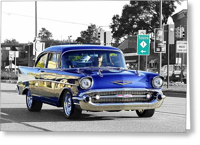 57 Chevy Selective Color Greeting Card