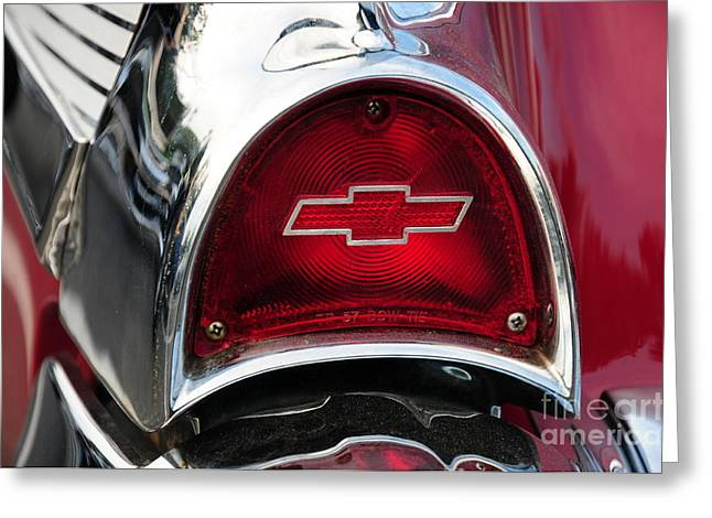 57 Chevy Tail Light Greeting Card by Paul Ward