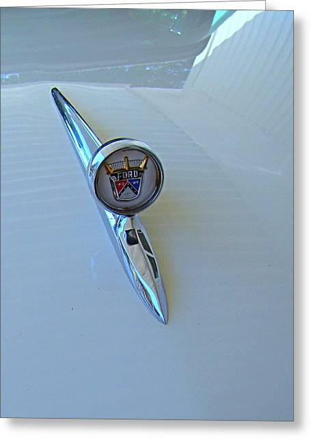 57 Fairlane 500 Emblem Greeting Card