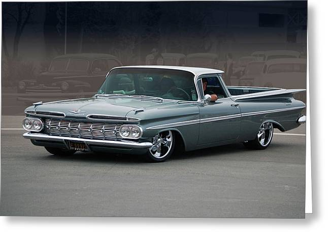 59 El Camino Rod Greeting Card by Bill Dutting