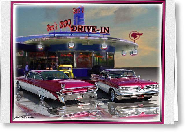 59 Pontiac Greeting Card by John Breen