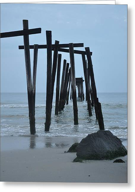 59th Street Pier Oc Nj Greeting Card by Bill Cannon
