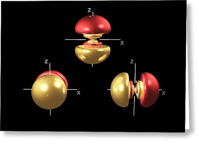 5p Electron Orbitals Greeting Card by Dr Mark J. Winter