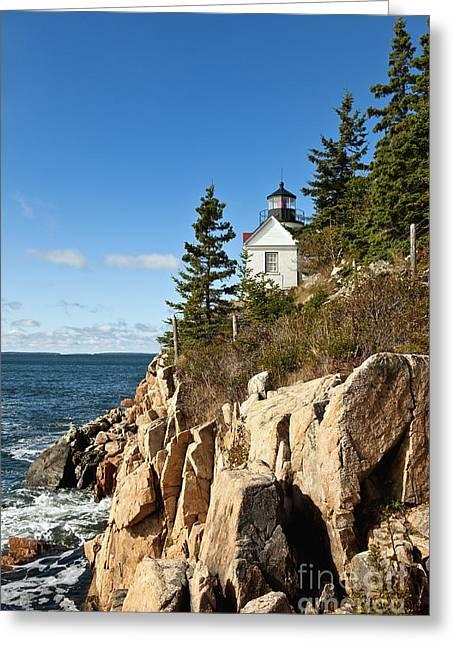 Bass Harbor Lighthouse Greeting Card by John Greim