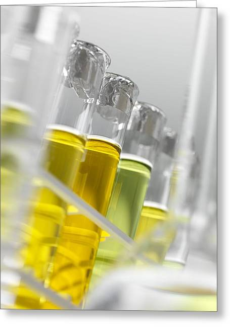 Biofuel Research Greeting Card by Tek Image