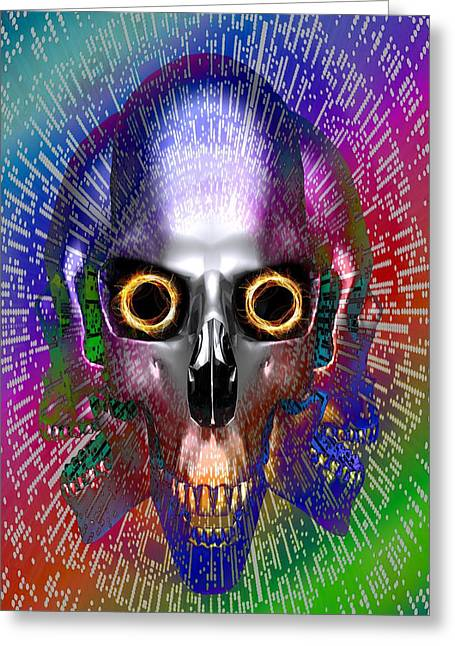 Computer Virus, Conceptual Artwork Greeting Card