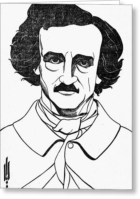 Edgar Allan Poe (1809-1849) Greeting Card by Granger