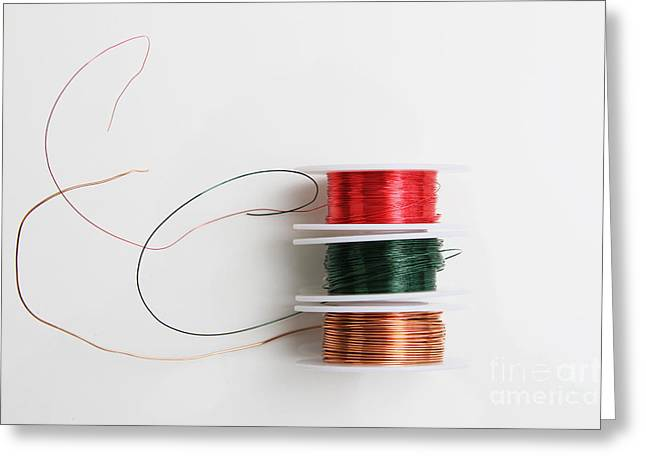 Enamel Coated Copper Wire Greeting Card by Photo Researchers, Inc.