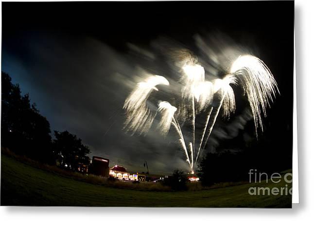 Fireworks Greeting Card by Angel Ciesniarska