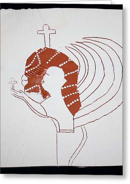 Guardian Angel Greeting Card by Gloria Ssali