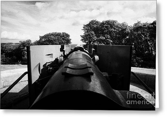6 Inch Breech Loaded Gun At Grey Point Fort And Battery Belfast Lough County Down Greeting Card