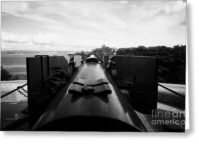 6 Inch Breech Loaded Gun At Grey Point Fort And Battery Belfast Lough Greeting Card