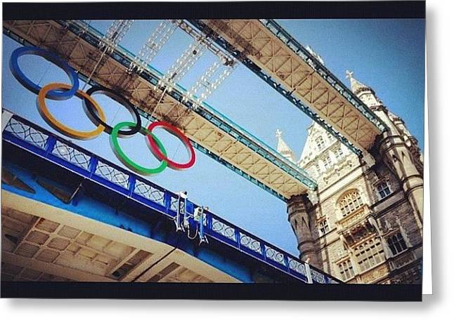 #london2012 #london #olympics Greeting Card by Nerys Williams