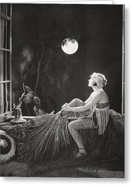 Silent Film Still: Costume Greeting Card by Granger