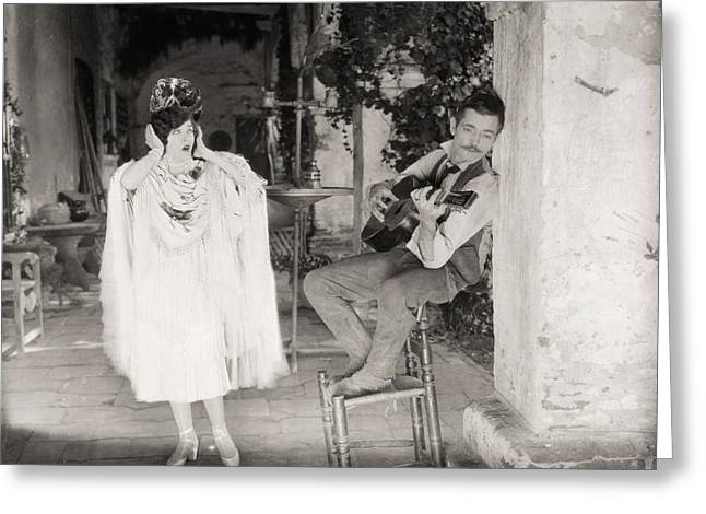 Silent Film Still: Music Greeting Card by Granger
