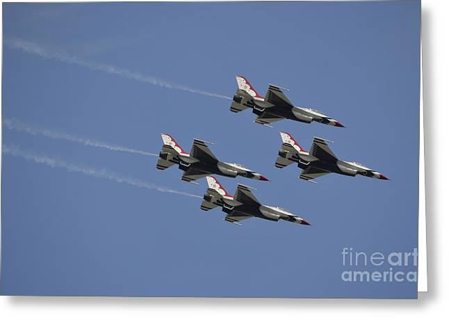 The U.s. Air Force Thunderbirds Fly Greeting Card