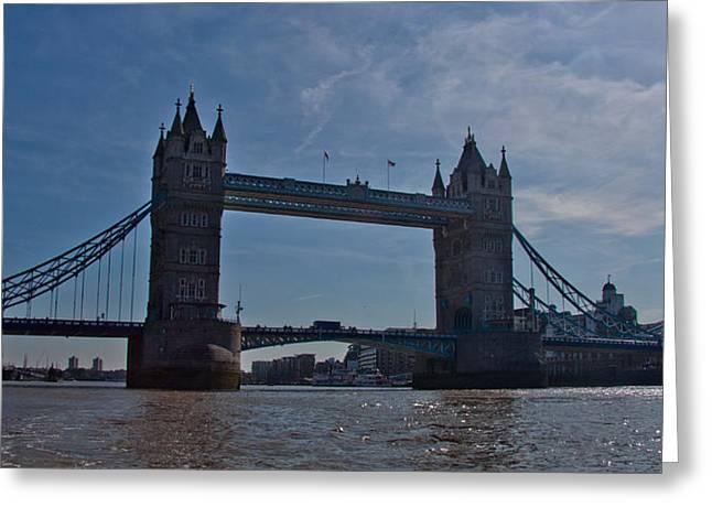 Tower Bridge Greeting Card by Dawn OConnor
