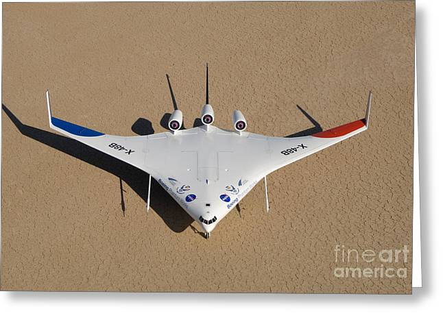 X-48b Blended Wing Body Greeting Card by Nasa