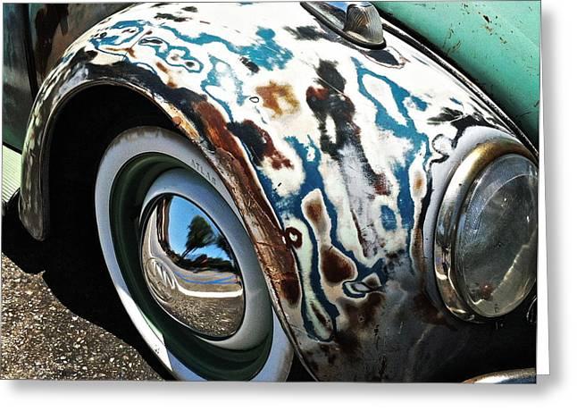 61 Volkswagon Bug Greeting Card by Gwyn Newcombe