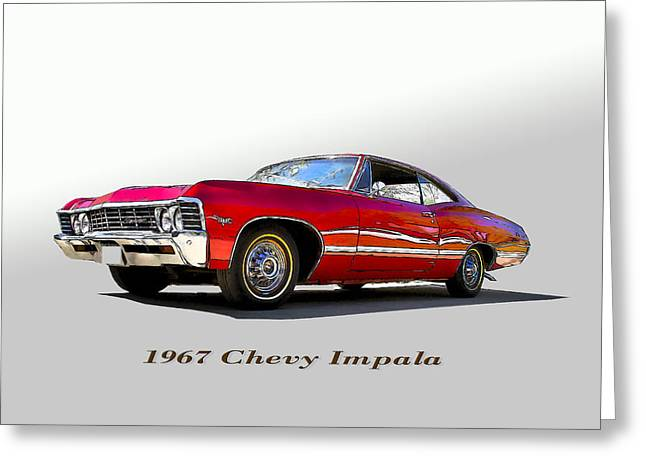 67 Chevy Greeting Card by John Hix