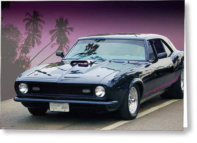 Greeting Card featuring the photograph 68 Pro Street Camaro by Bill Dutting