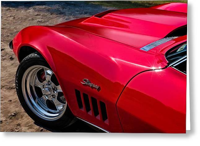 69 Red Detail Greeting Card by Douglas Pittman