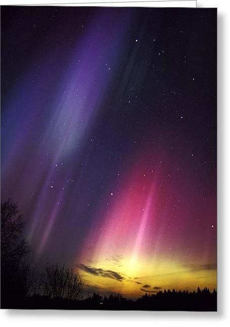 Aurora Borealis Greeting Card by Pekka Parviainen