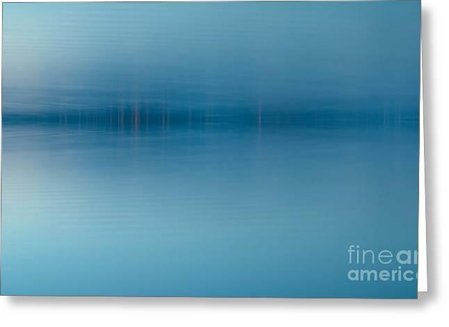 Blue Lake Greeting Card by Odon Czintos